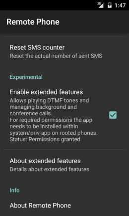 Remote Phone - Extended features