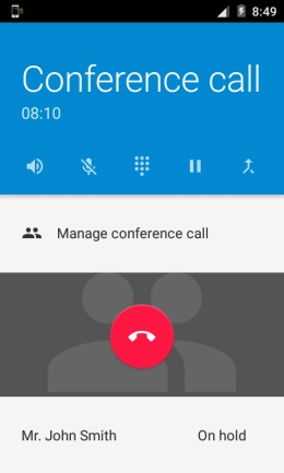 Phone - Conference and background call